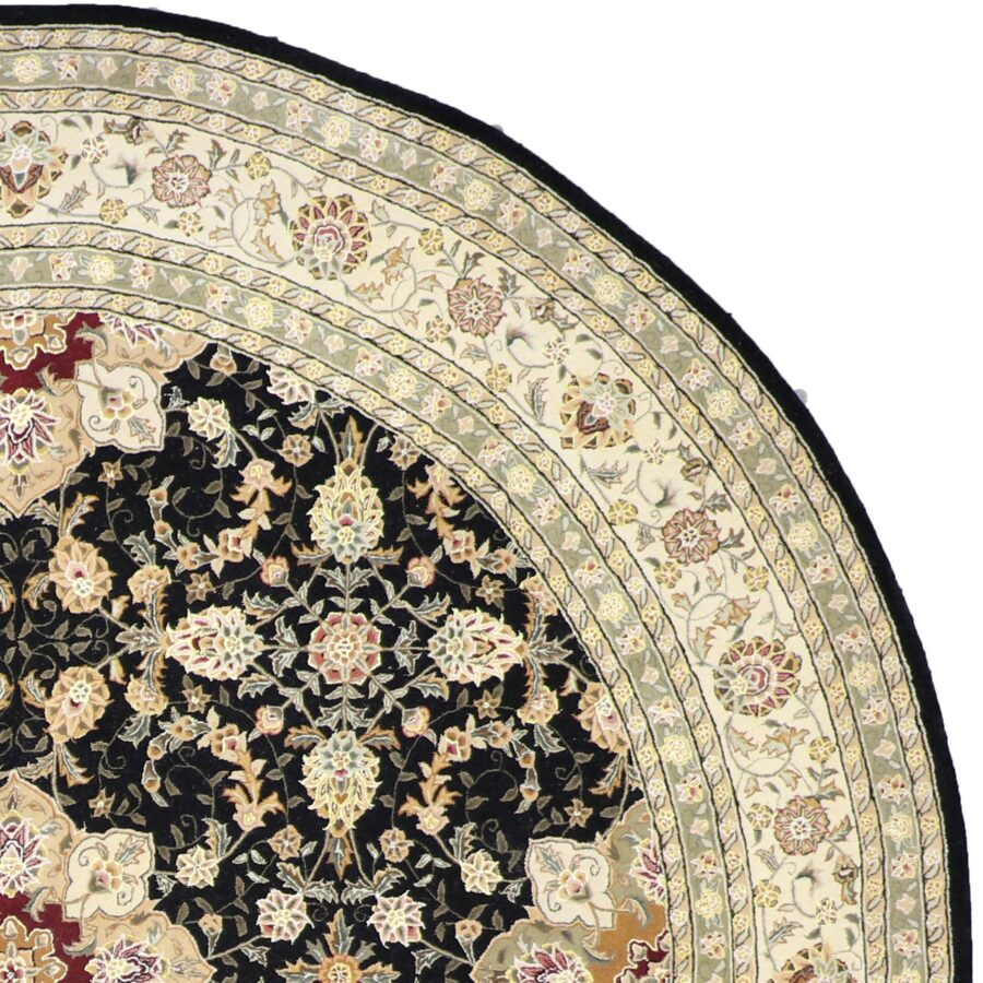 10'x10' Traditional Round Wool & Silk Tufted-Rug - Direct Rug Import   Rugs in Chicago, Indiana,South Bend,Granger