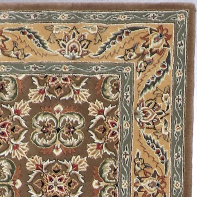 """3'8""""x5'7"""" Traditional Brown Wool & Silk Hand-Tufted Rug - Direct Rug Import   Rugs in Chicago, Indiana,South Bend,Granger"""