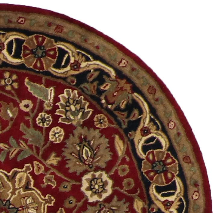 4'x4' Traditional Round Red Wool Rug - Direct Rug Import | Rugs in Chicago, Indiana,South Bend,Granger