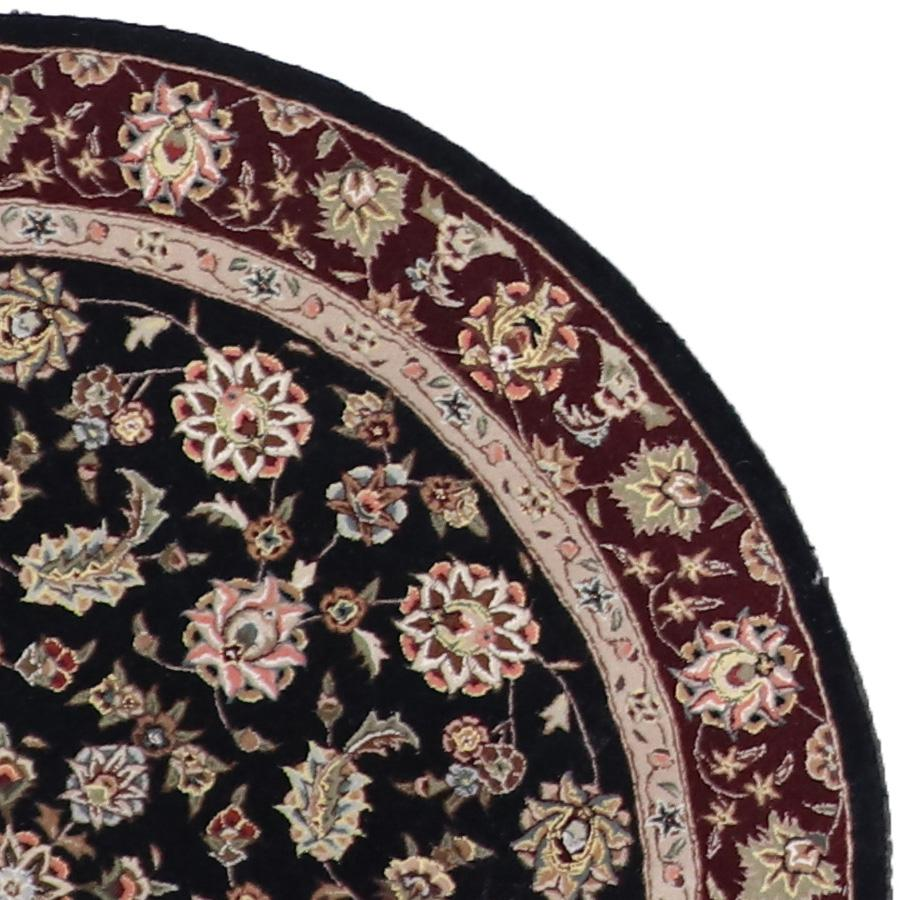 5'x5' Traditional Round Wool & Silk Rug Hand-Tufted - Direct Rug Import | Rugs in Chicago, Indiana,South Bend,Granger