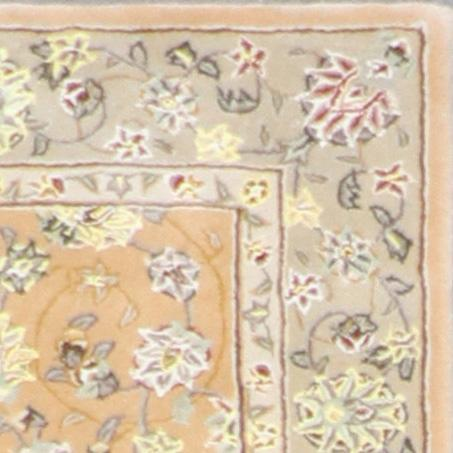 """2'7""""x8'1"""" Decorative Tan Wool & Silk Hand-Tufted Rug - Direct Rug Import 