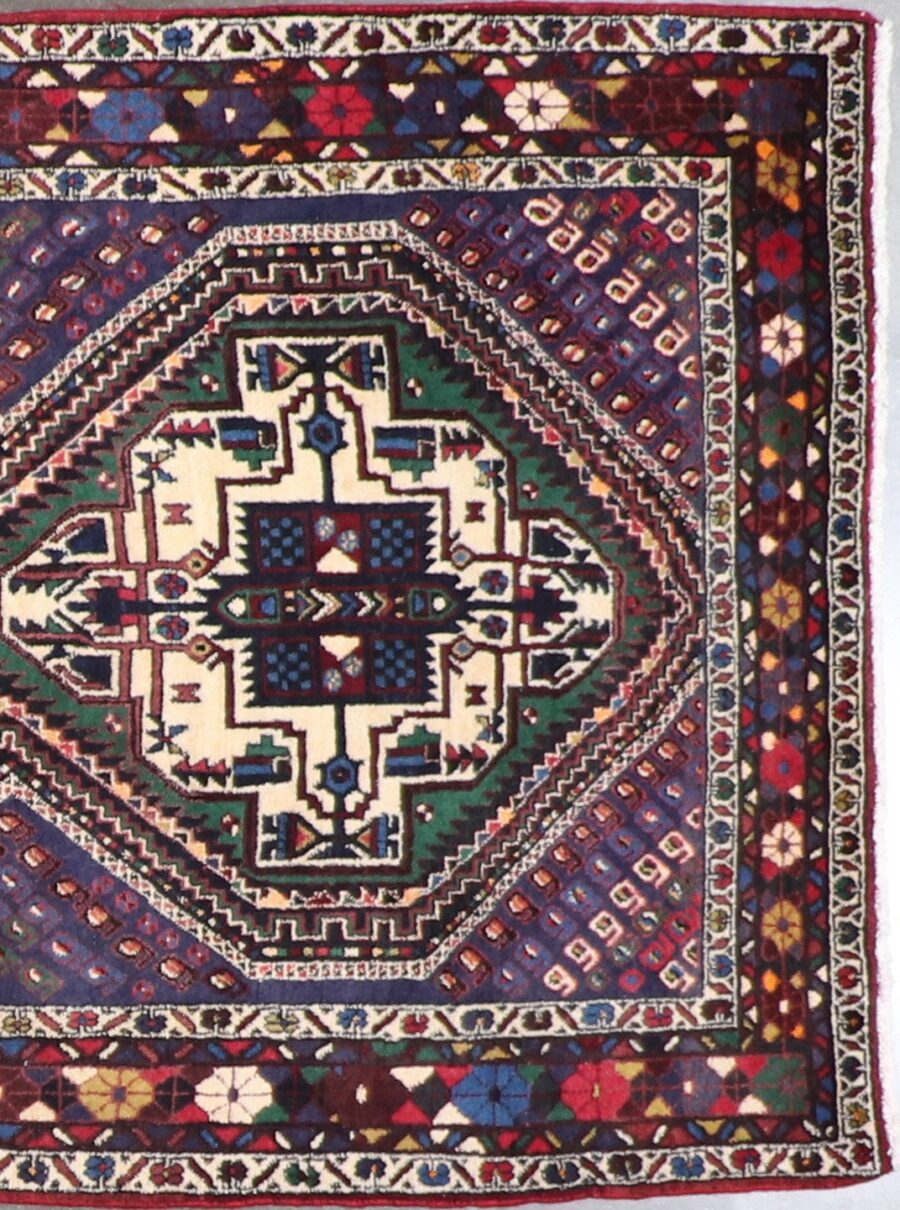 """4'x6'4"""" Traditional Wool Hand-Knotted Rug - Direct Rug Import 