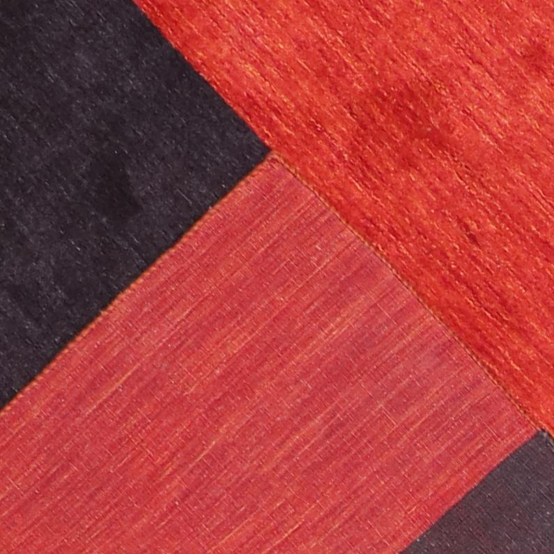 """5'8""""x7'10"""" Contemporary Red Wool Hand-Knotted Rug - Direct Rug Import 