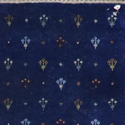 """2'7""""x10' Transitional Navy Wool & Silk Hand-Knotted Rug - Direct Rug Import   Rugs in Chicago, Indiana,South Bend,Granger"""