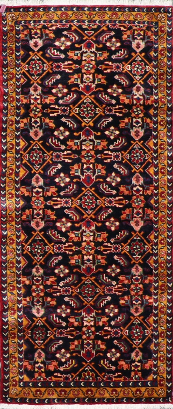"""2'8""""x6'3"""" Traditional Persian Navy Wool Hand-Knotted Rug - Direct Rug Import   Rugs in Chicago, Indiana,South Bend,Granger"""