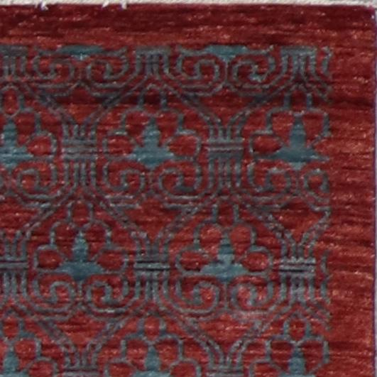 """2'8""""x10'2"""" Transitional Red Wool Hand-Knotted Rug - Direct Rug Import   Rugs in Chicago, Indiana,South Bend,Granger"""