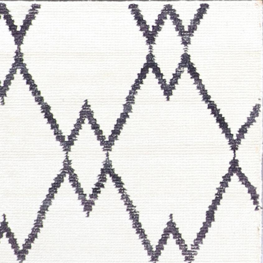 """4'7""""x6'7"""" Contemporary Ivory Moroccan Wool Hand-Knotted Rug - Direct Rug Import 