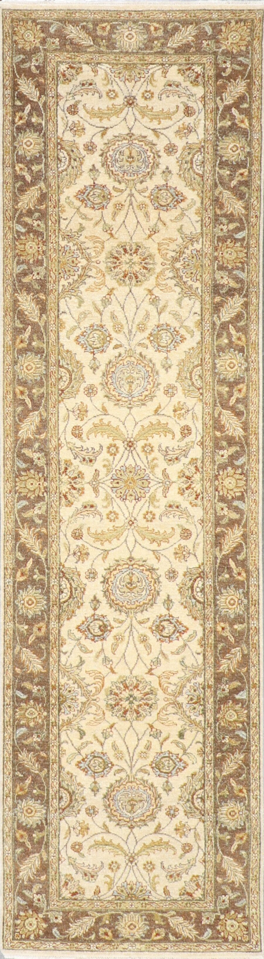 """2'7""""x9'9"""" Decorative Tan Hand Spun Wool Hand-Knotted Rug - Direct Rug Import   Rugs in Chicago, Indiana,South Bend,Granger"""