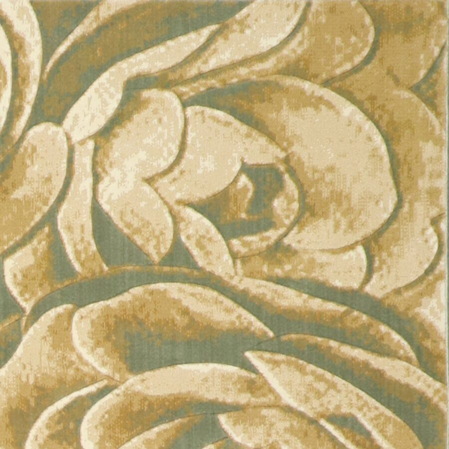 """6'7""""x9'5"""" Contemporary Tan Wool Hand-Finished Rug - Direct Rug Import 