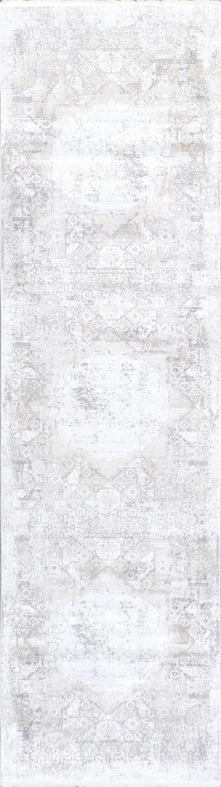 """2'7""""x9'8"""" Transitional Ivory Wool & Silk Hand-Finished Rug - Direct Rug Import 