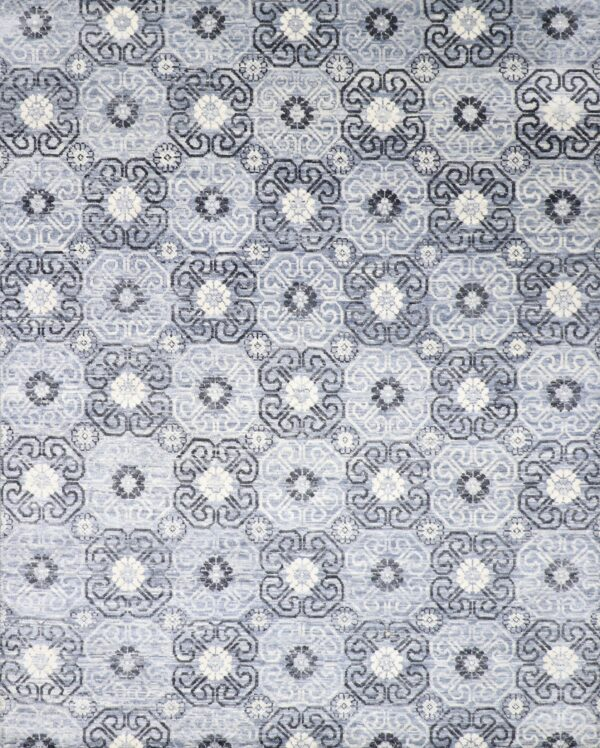 8'x10' Transitional Gray Wool Hand-Knotted Rug - Direct Rug Import | Rugs in Chicago, Indiana,South Bend,Granger