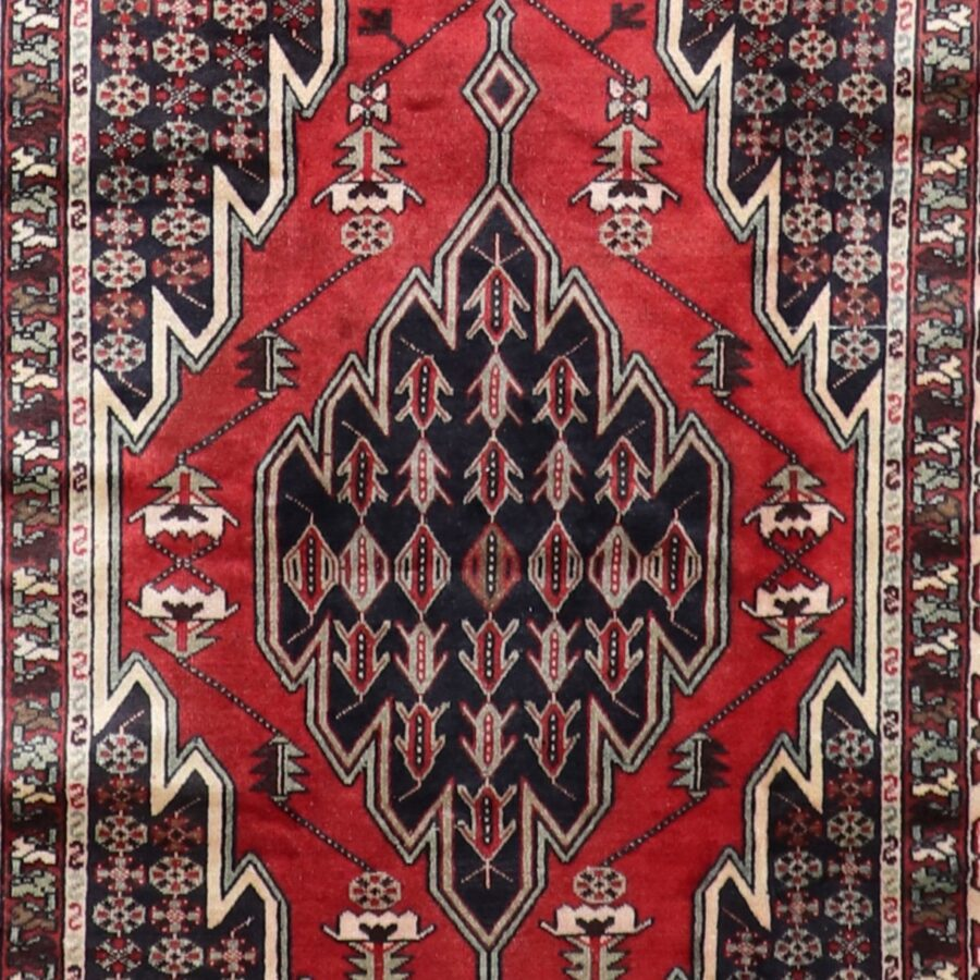 """4'3""""x6'5"""" Traditional Persian Red Wool Hand-Knotted Rug - Direct Rug Import   Rugs in Chicago, Indiana,South Bend,Granger"""