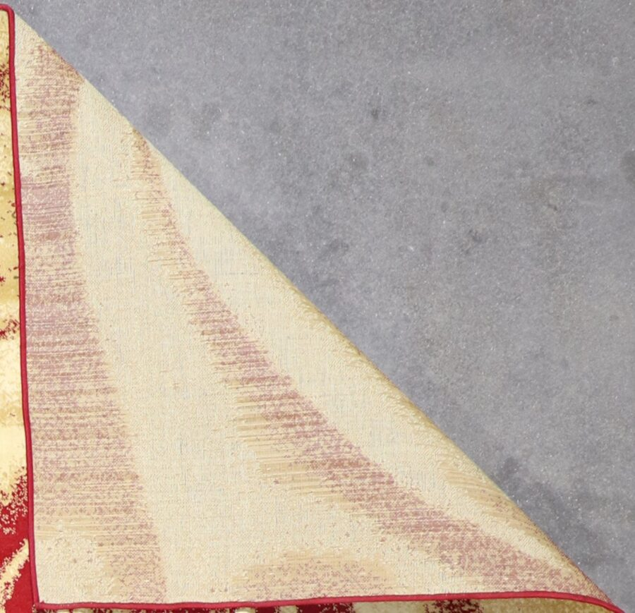 """6'6""""x9'6"""" Contemporary Gold & Red Hand-Finished Rug - Direct Rug Import   Rugs in Chicago, Indiana,South Bend,Granger"""