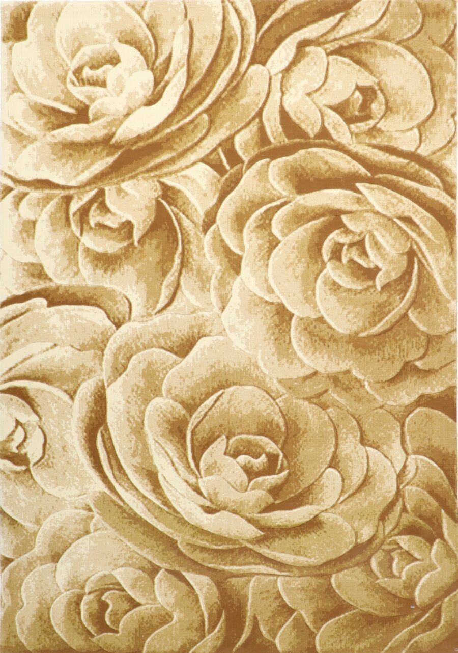 """6'7""""x9'6"""" Decorative Ivory & Gold Hand-Finished Rug - Direct Rug Import   Rugs in Chicago, Indiana,South Bend,Granger"""