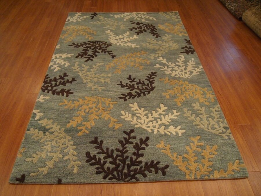 5' X 8' Overall Modern Tibetan Blue Rectangular Wool Rug - Direct Rug Import | Rugs in Chicago, Indiana,South Bend,Granger