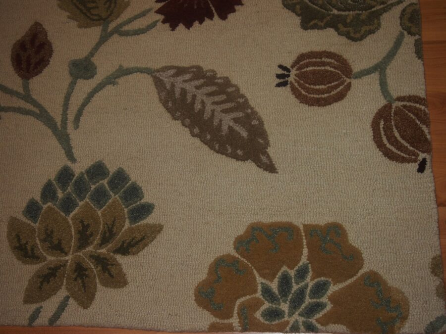5' X 8' Overall Modern  Ivory Rectangular Wool & Silk Rug - Direct Rug Import   Rugs in Chicago, Indiana,South Bend,Granger