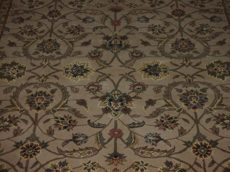 5' X 8' Overall Traditional Persian Tabriz Beige Rectangular Wool & Silk Rug - Direct Rug Import | Rugs in Chicago, Indiana,South Bend,Granger