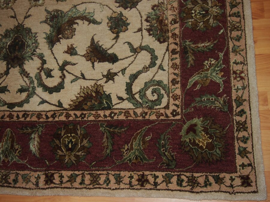 5'5'' X 8'5'' Overall Traditional  Rust Rectangular Wool & Silk Rug - Direct Rug Import   Rugs in Chicago, Indiana,South Bend,Granger