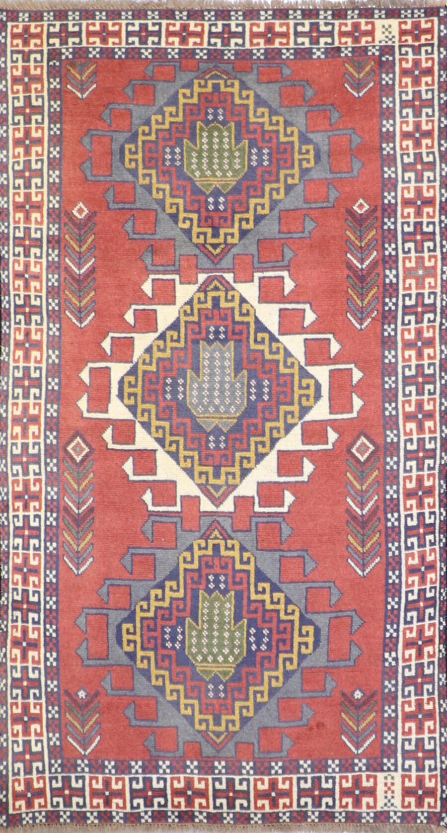"""3'6""""x6'7"""" Traditional Tribal Persian Wool Hand-Knotted Rug - Direct Rug Import 