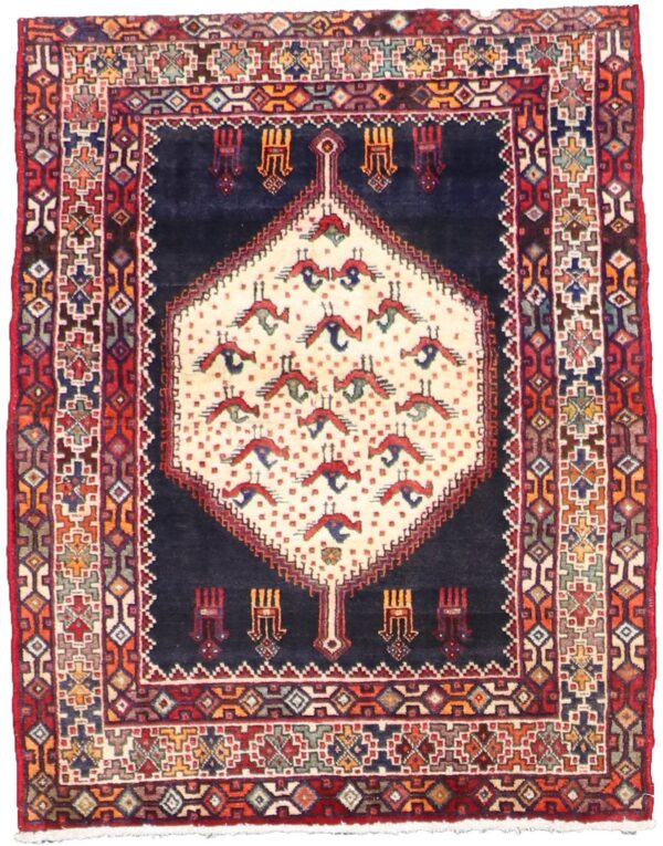 """3'10""""x4'10"""" Traditional Wool Hand-Knotted Rug - Direct Rug Import 