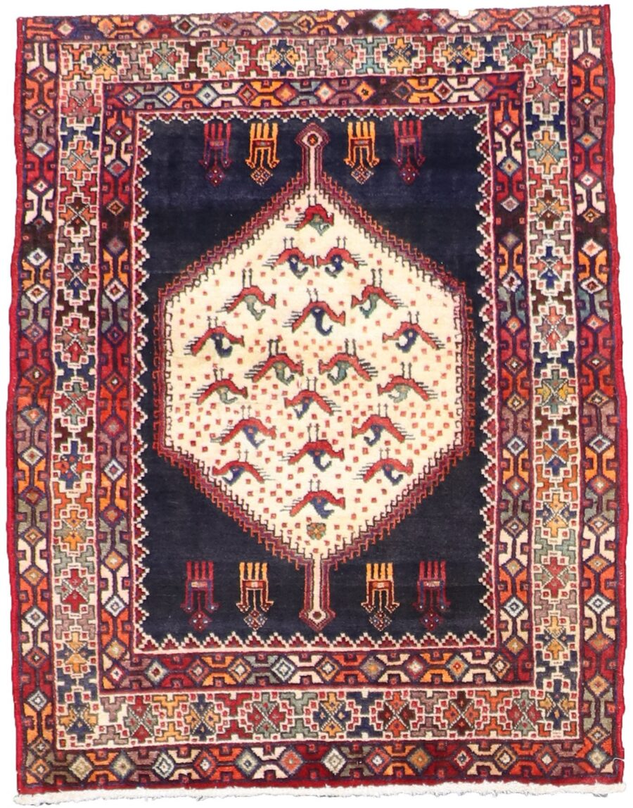 """3'10""""x4'10"""" Traditional Wool Hand-Knotted Rug - Direct Rug Import   Rugs in Chicago, Indiana,South Bend,Granger"""