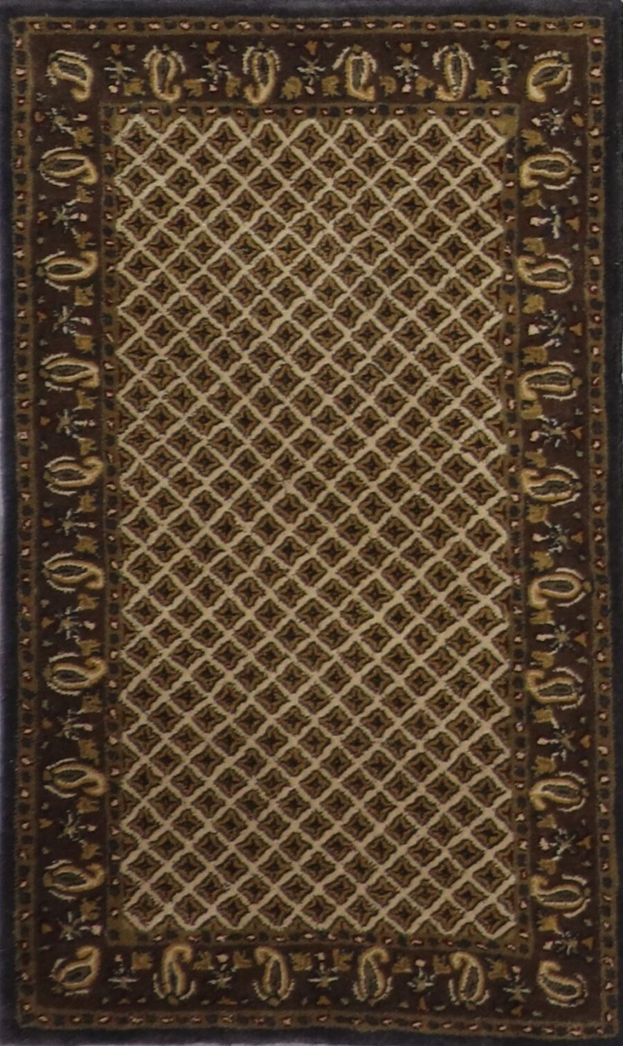 """3'x4'11"""" Decorative Ivory Wool Hand-Tufted Rug - Direct Rug Import   Rugs in Chicago, Indiana,South Bend,Granger"""