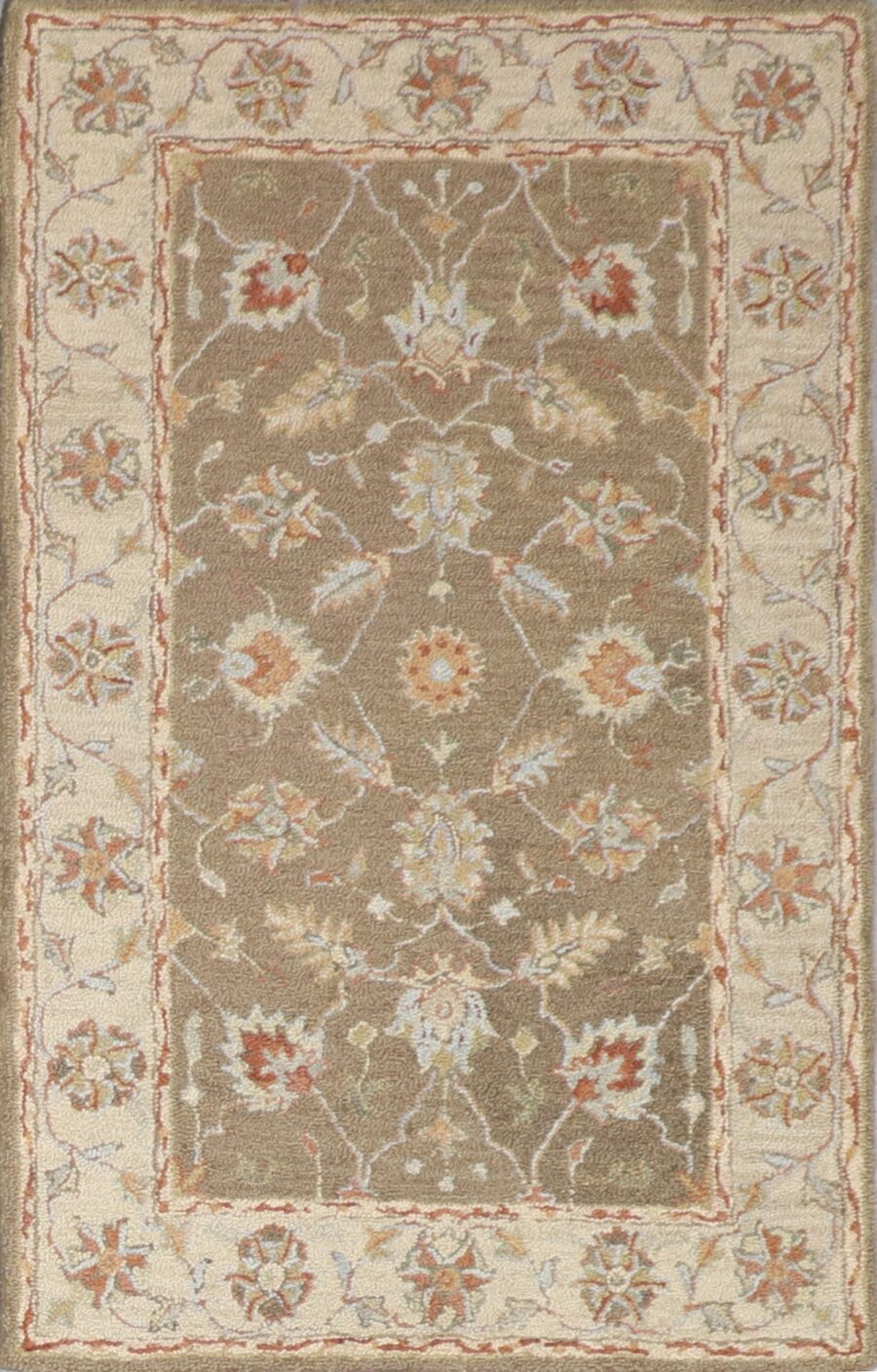 """3'6""""x5'6"""" Decorative Brown Hook Wool Hand-Tufted Rug - Direct Rug Import   Rugs in Chicago, Indiana,South Bend,Granger"""