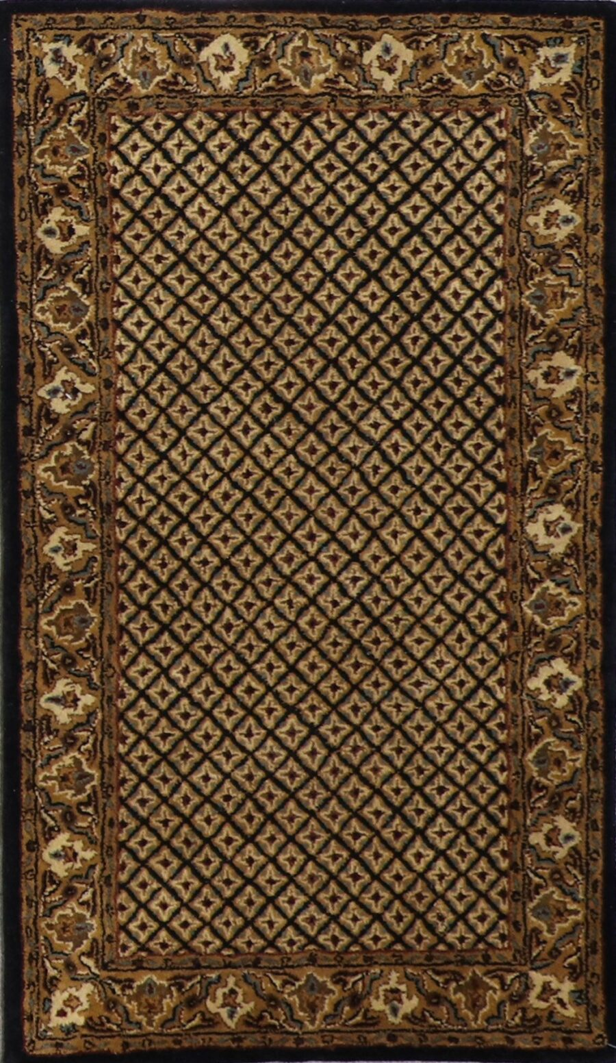 """3'x5'2"""" Decorative Black Wool Hand-Tufted Rug - Direct Rug Import   Rugs in Chicago, Indiana,South Bend,Granger"""