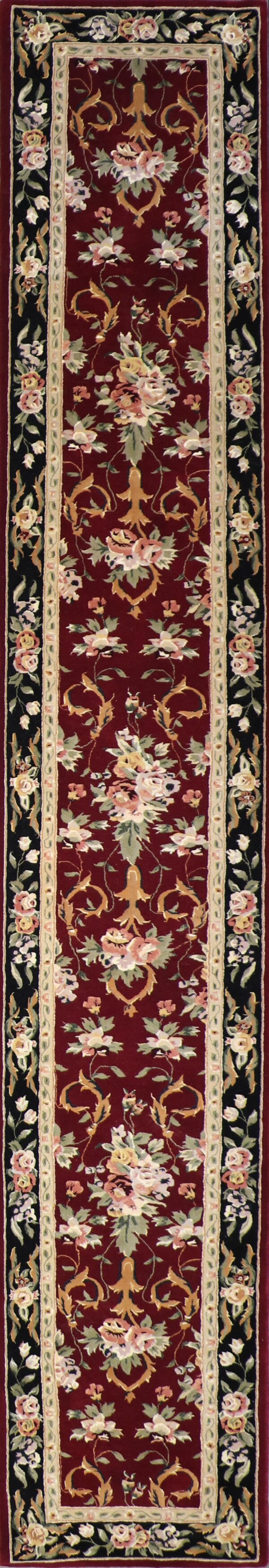 """2'6""""x16' Traditional Tabriz Wool Hand-Tufted Rug - Direct Rug Import 