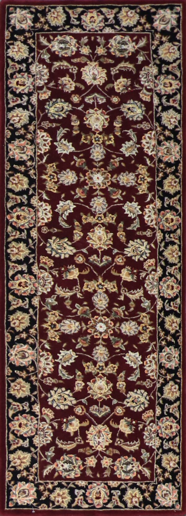 """2'8""""x8'1"""" Decorative Burgundy Wool & Silk Hand-Tufted Rug - Direct Rug Import 