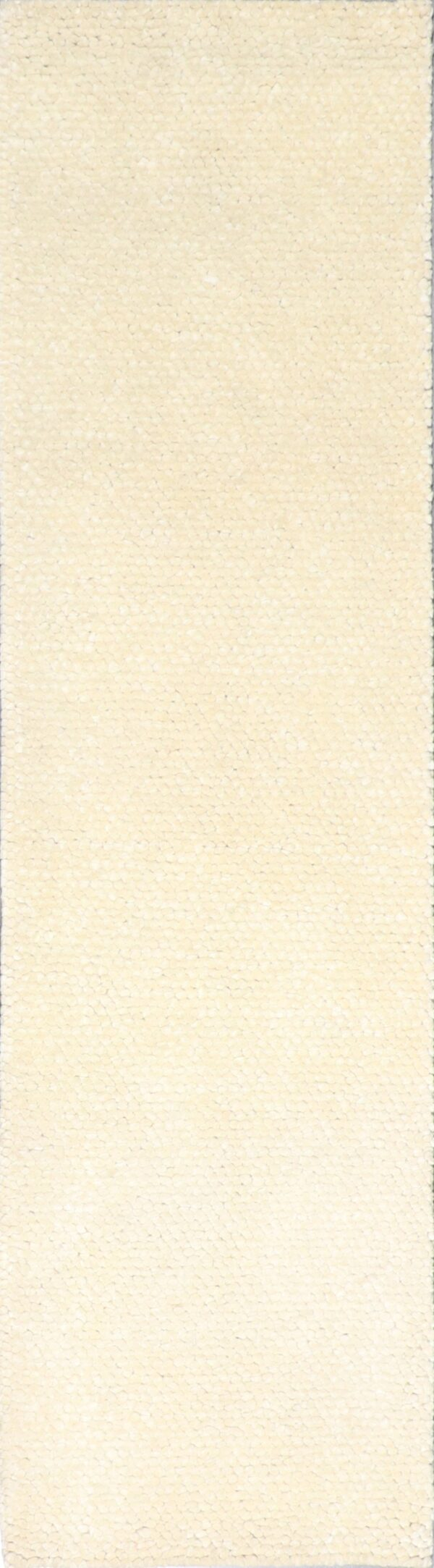 """2'5""""x9'4"""" Contemporary Ivory Wool Hand-Tufted Rug - Direct Rug Import 