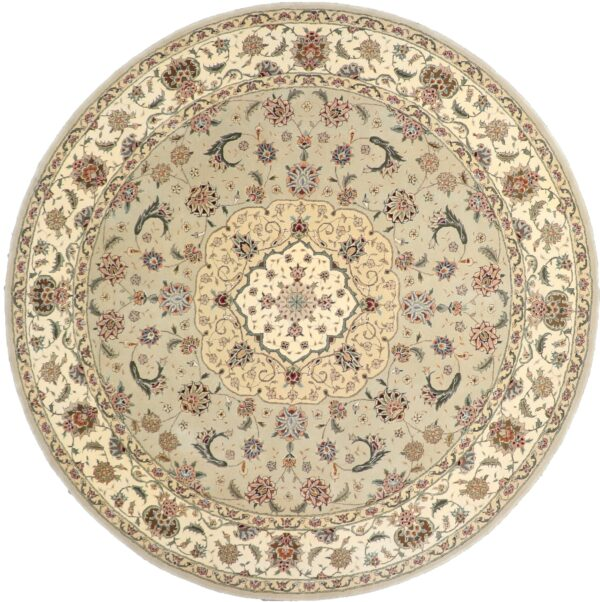 """8'7""""x8'7"""" Decorative Round Wool & Silk Rug Hand-Tufted - Direct Rug Import   Rugs in Chicago, Indiana,South Bend,Granger"""