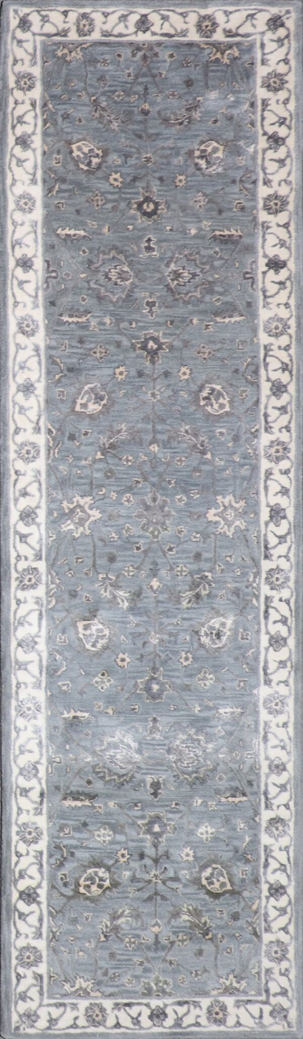 """2'11""""x10' Decorative Vintage Wool & Silk Hand-Tufted Rug - Direct Rug Import 