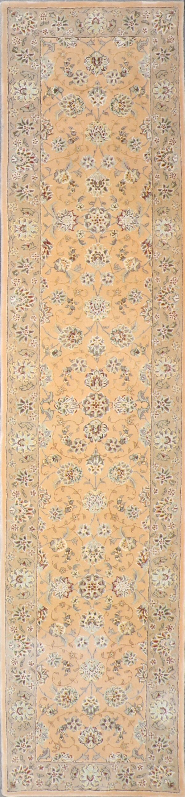 """2'8""""x11'7"""" Decorative Tabriz Wool & Silk Hand-Tufted Rug - Direct Rug Import 