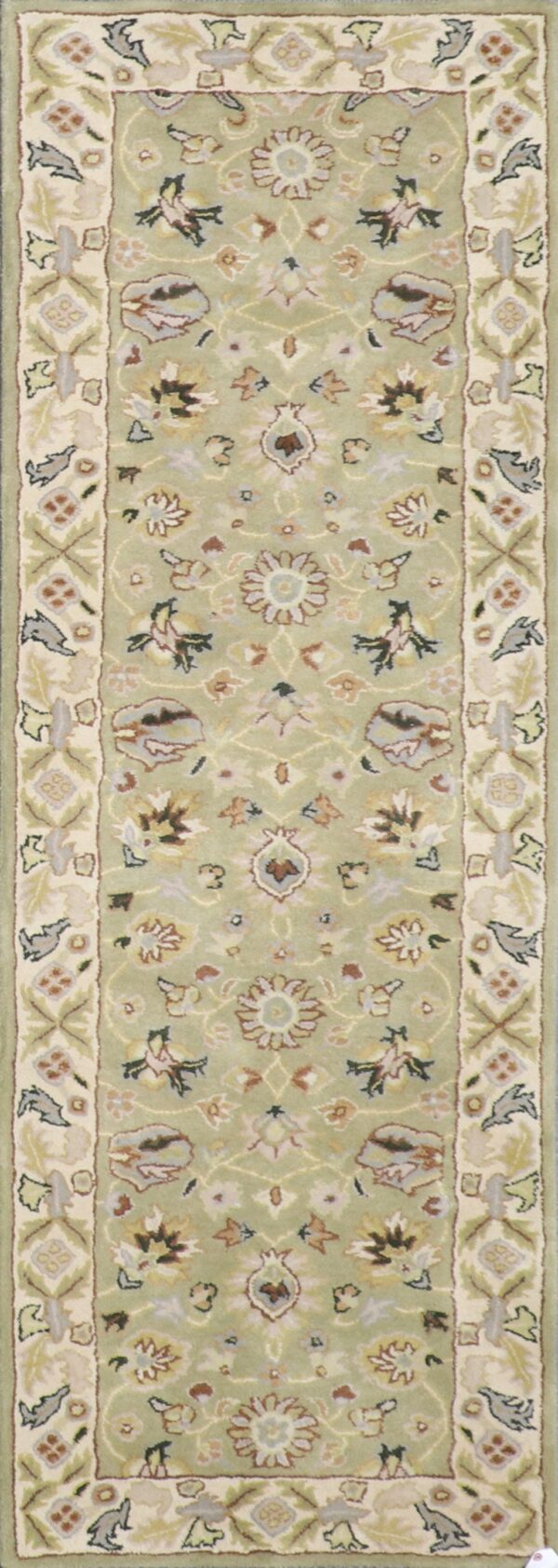 """2'9""""x8'2"""" Decorative Green Wool Hand-Tufted Rug - Direct Rug Import 