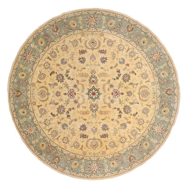 """8'5""""x8'5"""" Decorative Round Wool & Silk Rug Hand-Tufted - Direct Rug Import   Rugs in Chicago, Indiana,South Bend,Granger"""
