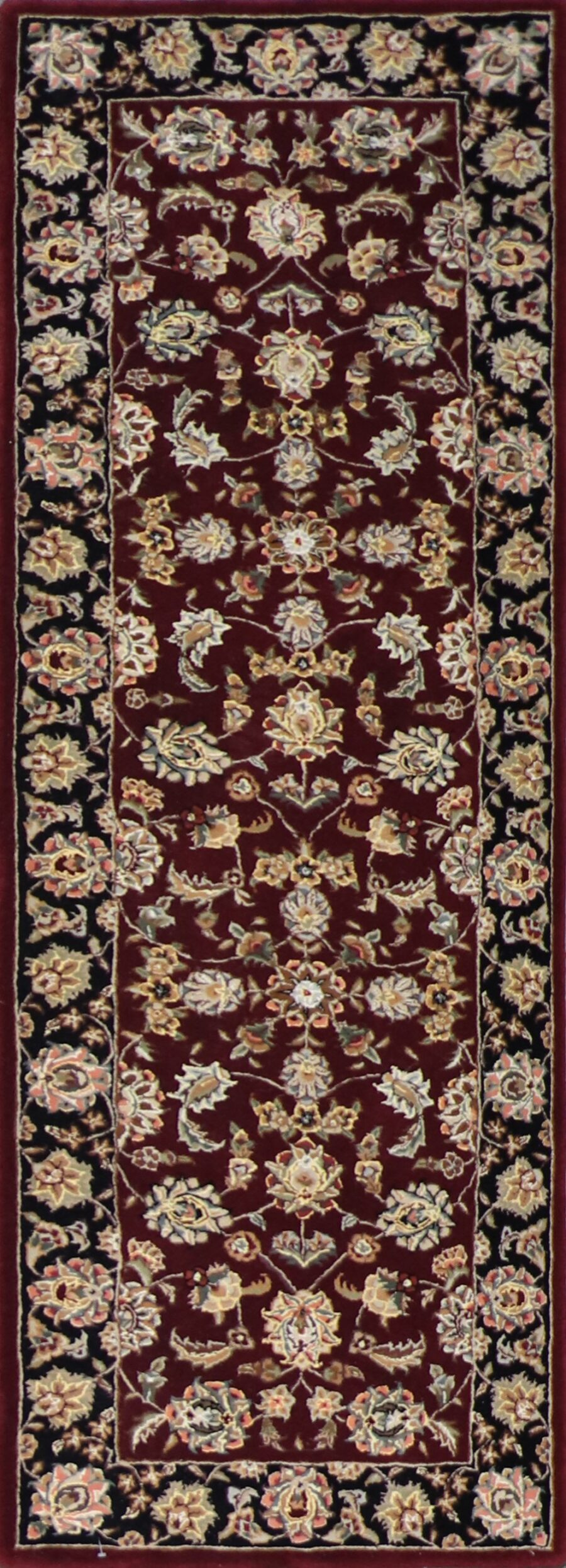 """2'7""""x7'11"""" Decorative Burgundy Wool & Silk Hand-Tufted Rug - Direct Rug Import 