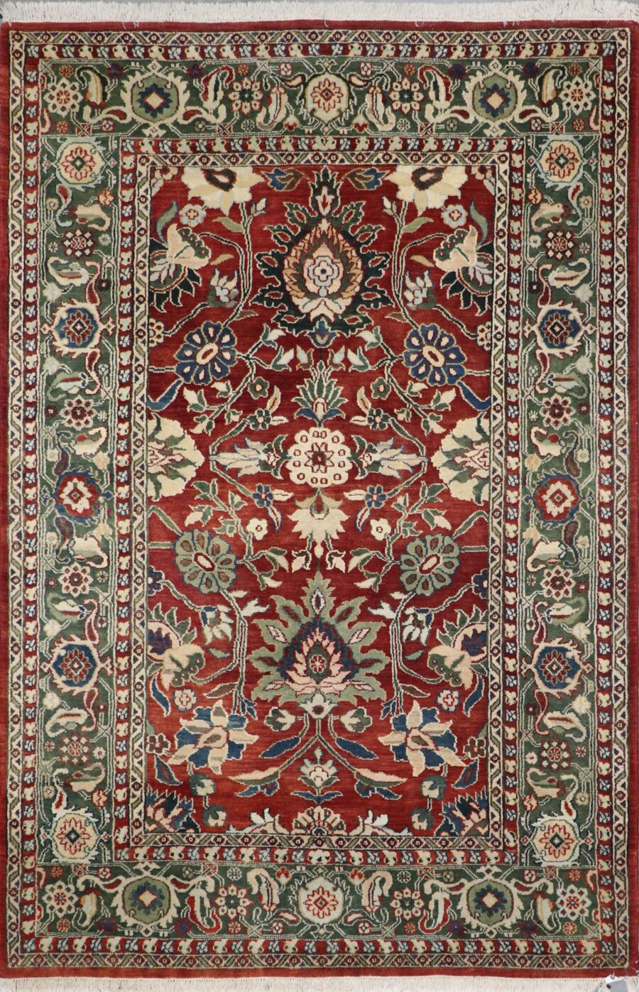 6'x9' Traditional Red Wool Hand-Knotted Rug - Direct Rug Import   Rugs in Chicago, Indiana,South Bend,Granger