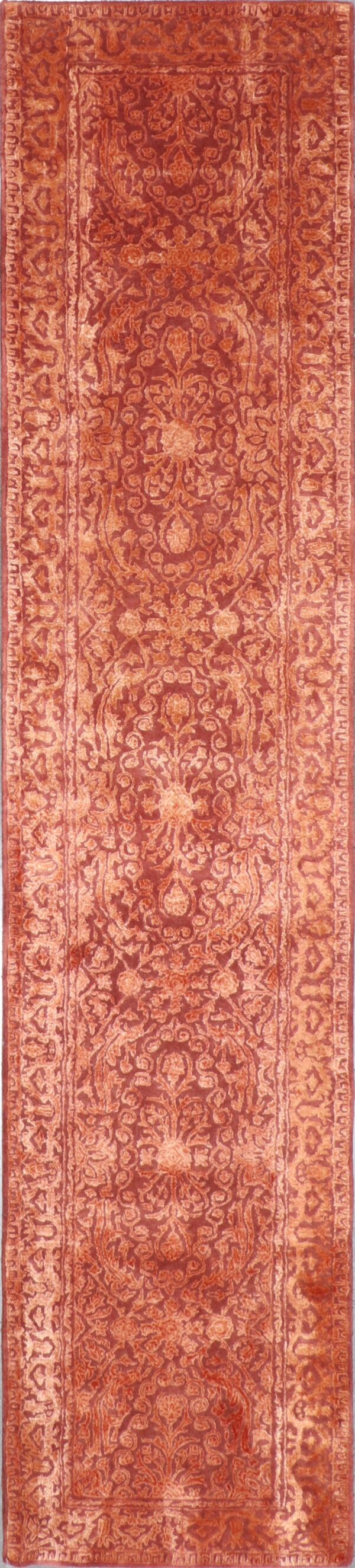"""2'6""""x9'8"""" Transitional Wool & Silk Hand-Tufted Rug - Direct Rug Import 