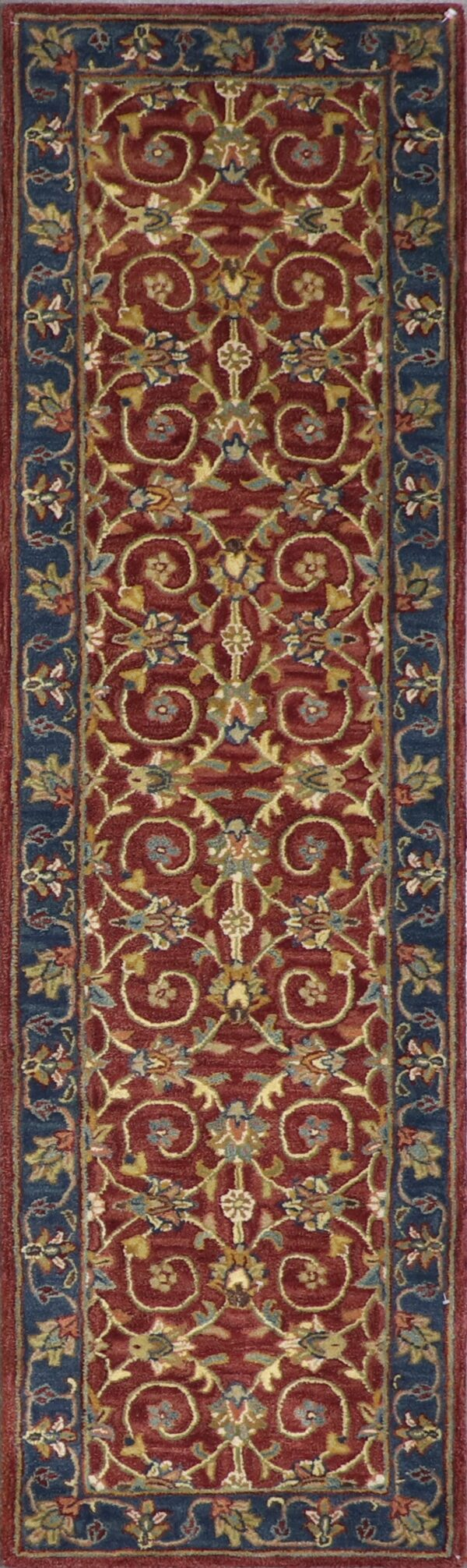 """2'3""""x7'11"""" Decorative Brugundy Wool Hand-Tufted Rug - Direct Rug Import 