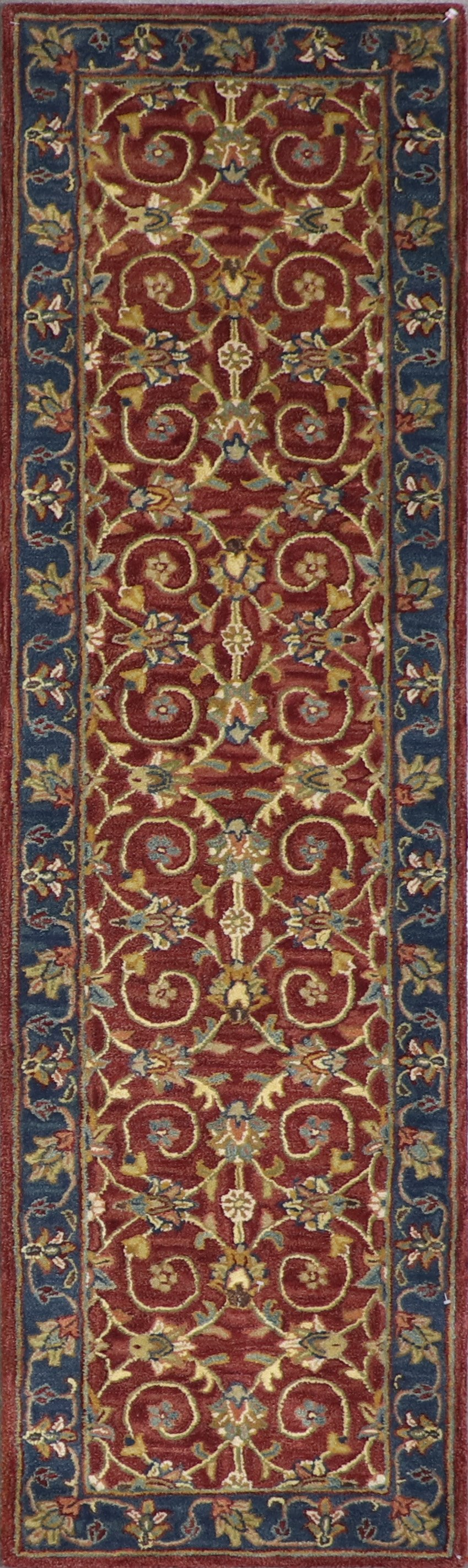 """2'3""""x7'11"""" Decorative Brugundy Wool Hand-Tufted Rug - Direct Rug Import   Rugs in Chicago, Indiana,South Bend,Granger"""