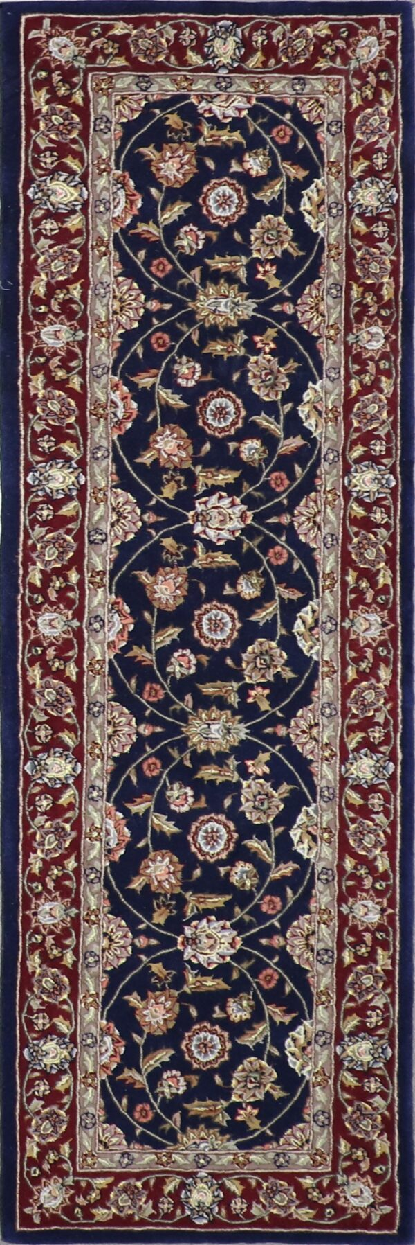 """2'5""""x8' Traditional Wool & Silk Hand-Tufted Rug - Direct Rug Import 