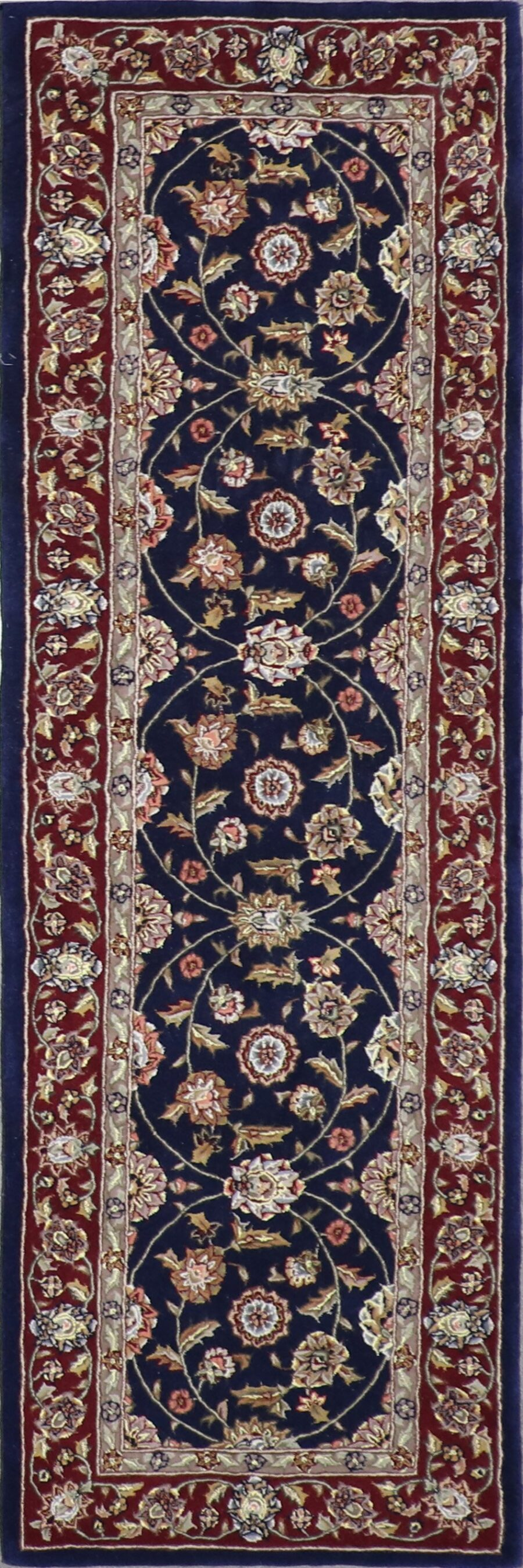 """2'5""""x8' Traditional Wool & Silk Hand-Tufted Rug - Direct Rug Import   Rugs in Chicago, Indiana,South Bend,Granger"""
