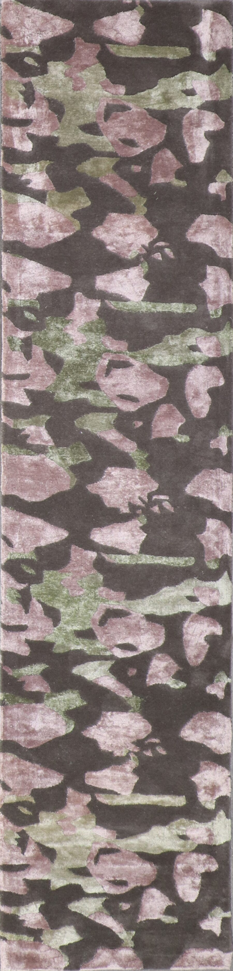 """2'6""""x11'8"""" Contemporary Wool & Silk Hand-Tufted Rug - Direct Rug Import 