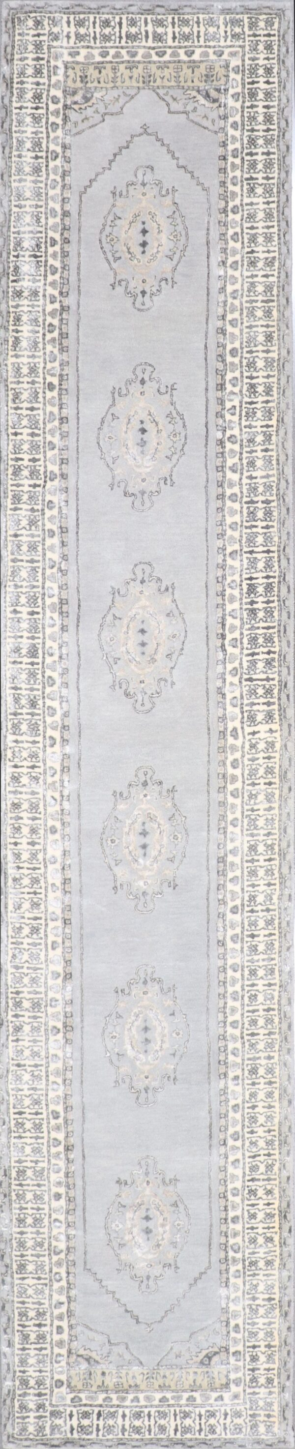 """2'9""""x14' Decorative Vintage Wool & Silk Hand-Tufted Rug - Direct Rug Import 