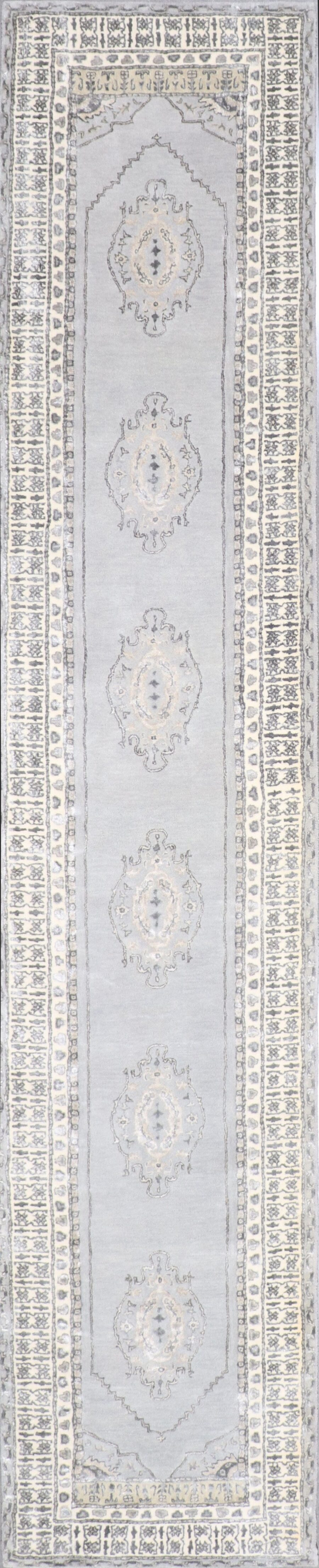 """2'9""""x14' Decorative Vintage Wool & Silk Hand-Tufted Rug - Direct Rug Import   Rugs in Chicago, Indiana,South Bend,Granger"""