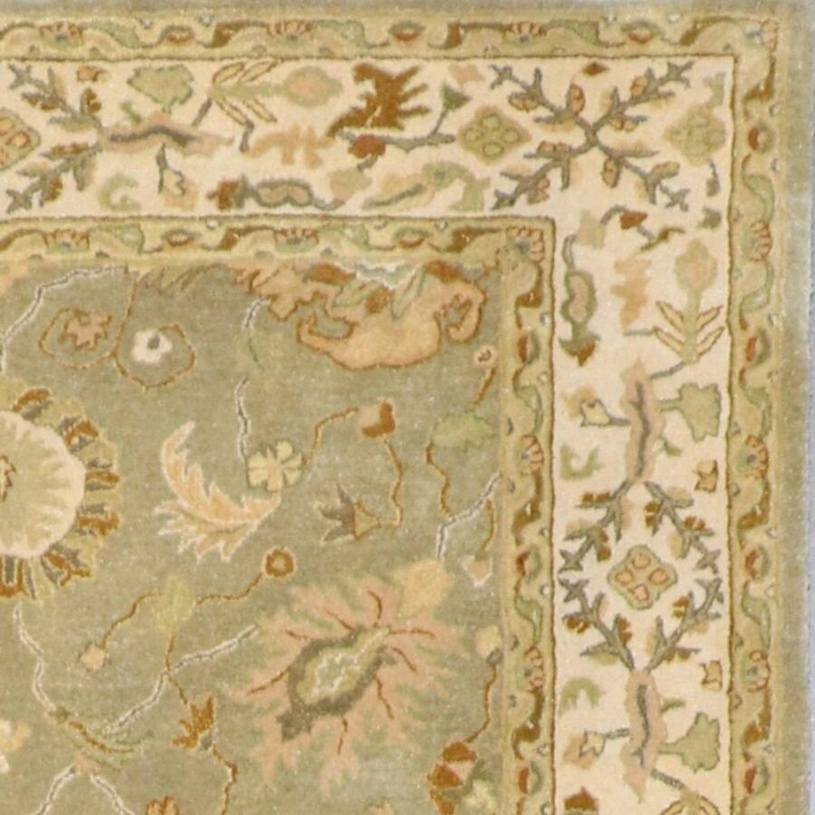 """5'6""""x8'6"""" Decorative Ivory Wool Hand-Knotted Rug - Direct Rug Import 