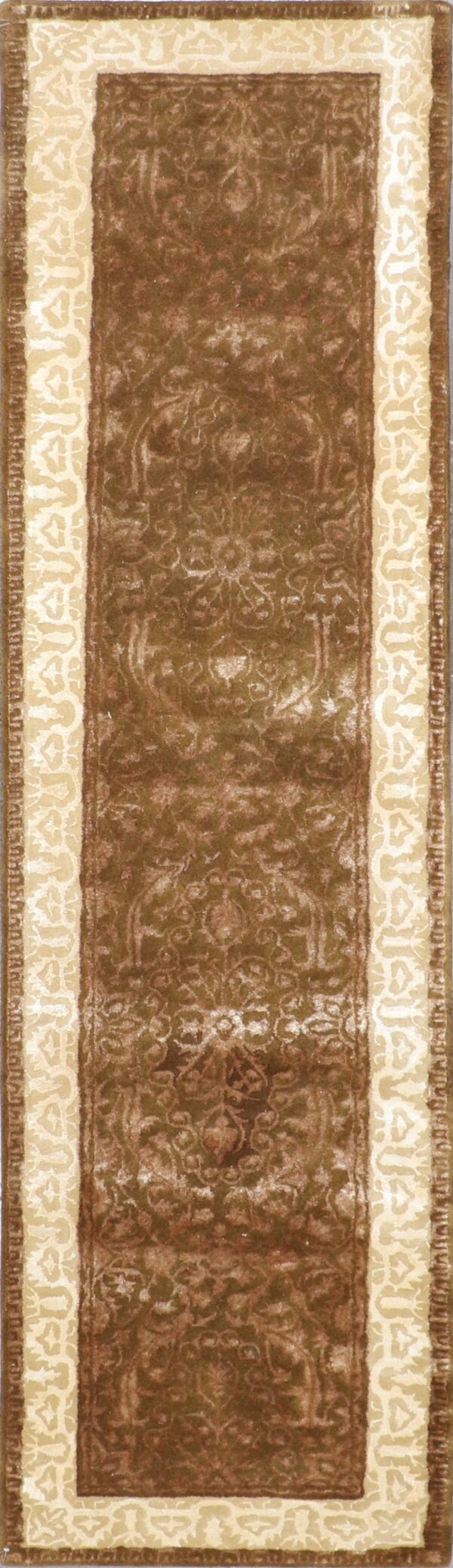 """2'6""""x9'10"""" Transitional Wool & Silk Hand-Tufted Rug - Direct Rug Import 