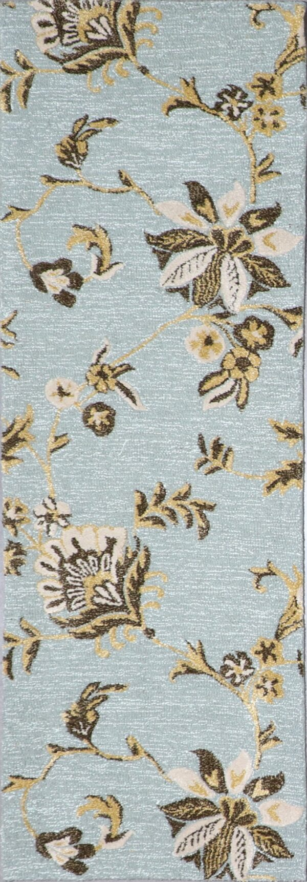 """2'6""""x7' Contemporary Wool Hand-Tufted Rug - Direct Rug Import 