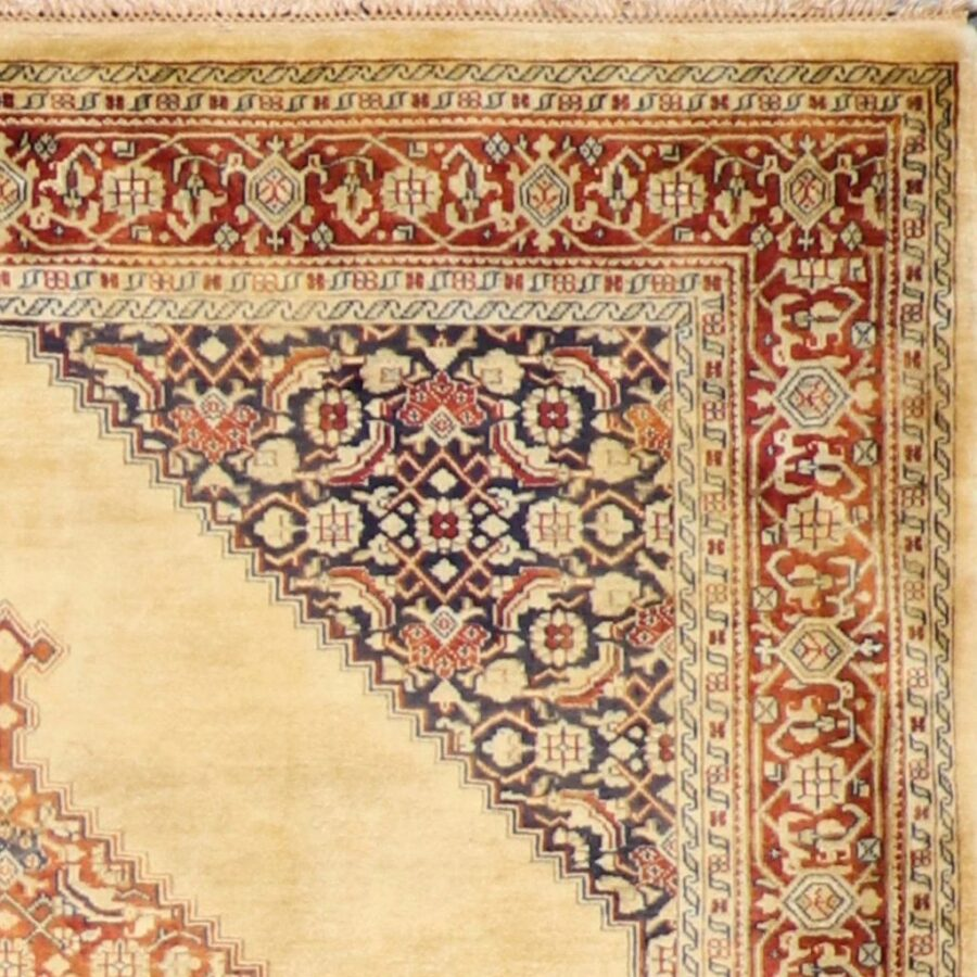 """5'8""""x7'11"""" Decorative Tan Wool Hand-Knotted Rug - Direct Rug Import 